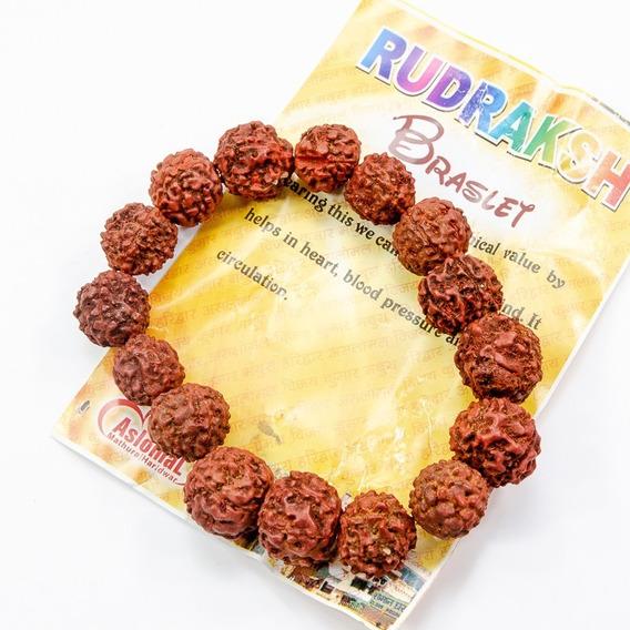Pulsera Semillas Rudraksha Grande (x2 Unidades)