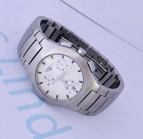 Reloj Longines Oposition Midsize Cronómetro Blanco