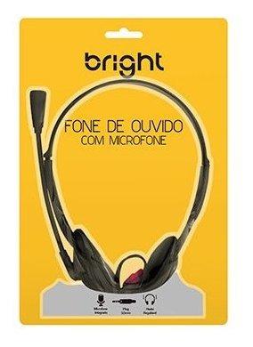 Headset P2 Office Preto 0010 Bright