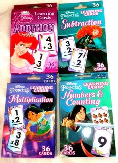 Flash Cards Tarjetas 4 Pz Aprendizaje Mataticas Sumas Y Mas
