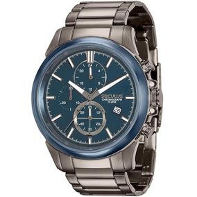 Relógio Masculino Seculus 13023gpsvqa2 Aço Negro