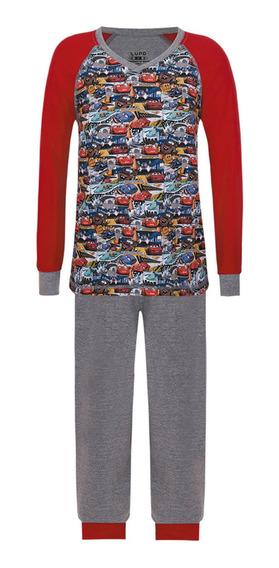 Pijama Infantil Disney Cars Carros Longo Lupo 23187-001