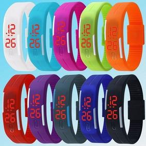 Relógio Led Digital Esportivo Bracelete Pulseira Borracha