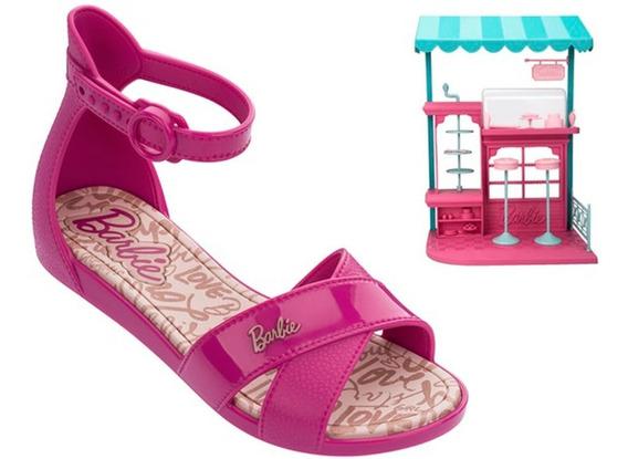 Sandália Infantil Grendene Barbie Confeiteira + Brinquedo