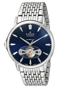 Relógio Edox Les Bemonts Azul/prata Heart Automático N Rolex