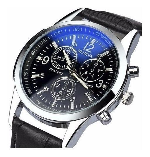Relógio Geneva Luxo Masculino Barato A Pronta Entrega