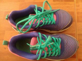 Zapato Niña Talla 28 Color Morado, Fucsia Y Turquesa
