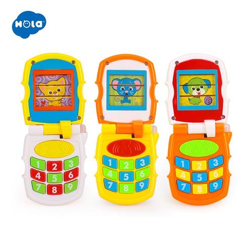 Telefono Celular Infantil Para Bebes Con Luz Y Sonido Hola