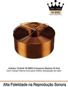 Indutor 12.0 Mh-19 Awg Divisor Frequencia Hi End Real Audyo