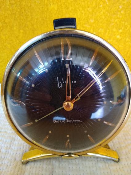 Hermoso Reloj Despertador Art Deco De 1958