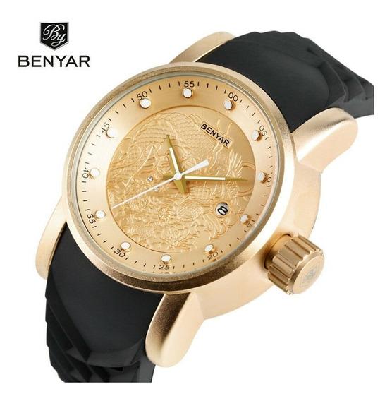 Relógio Benyar Zodiac + Estojo Original + Postagem Imediata.