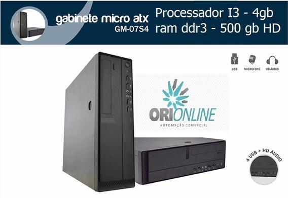 Desktop Comercial I3-4gb-500gb Hd (gabinete Micro Atx)