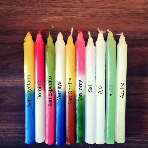 Vela Novena Colores Pack De 50u