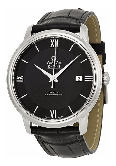 Reloj Omega Deville Automático Piel Negra 42413402001001