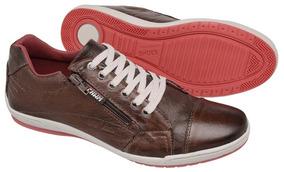 Sapatenis Dockside Sapato Casual Couro Tchwm Shoes Com Zipe