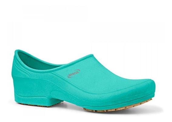 Sapato Flip Impermeável Verde Com Solado De Borracha Nº 35-b