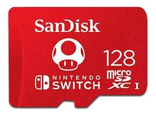 Memoria Microsdxc Uhs-i U3 Sandisk De 128 Gb Para Nintendo