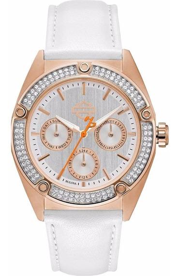 Reloj Harley Davidson 78n102 Con Cristales Swarovski E-watch