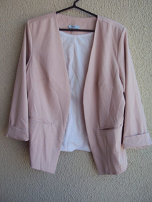 Blazer Feminino Bonprix Collection Rosa / Salmão Tam 46