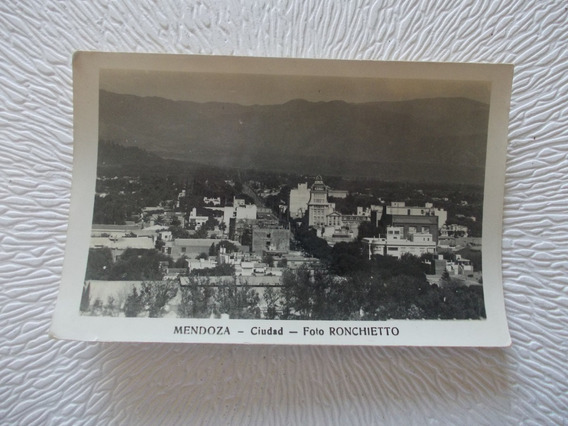 8608-antigua Vista Ciudad Foto/ Postal Mendoza- Ronchietto