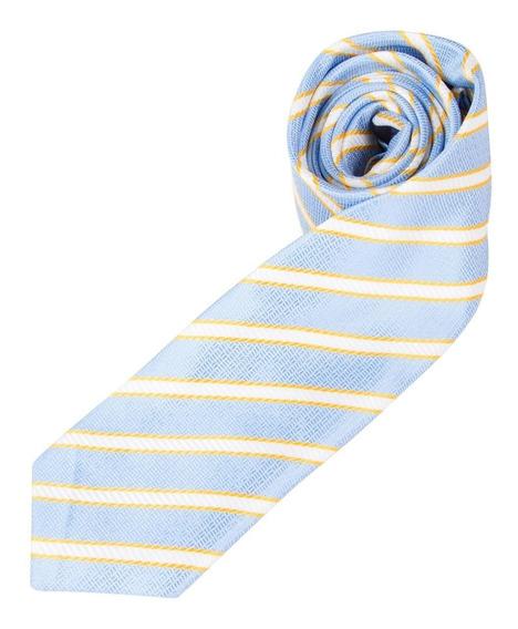 Gravata Colombo Azul Listrada