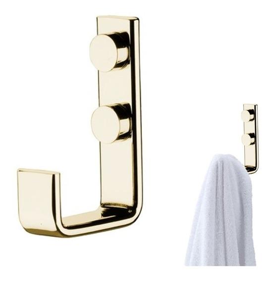 Suporte Cabide Gancho Porta Toalha Dourado Ouro 2314dd