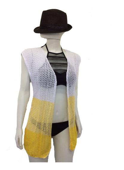 Kimono Saída De Praia Piscina Moda Tricot Crochê Verão 18