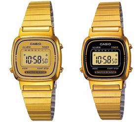 Relogio Casio La 670 Dourado Digital Feminino C/ Caixa