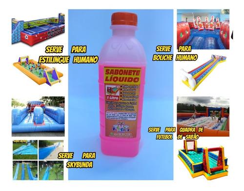 Imagem 1 de 10 de Quadra De Fut.sabão Kit C/4lts De Sabonete Liquido Especial