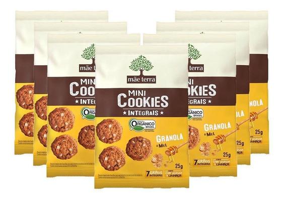 Mini Cookies Mãe Terra Granola E Mel Orgânico 7 Un - 25g