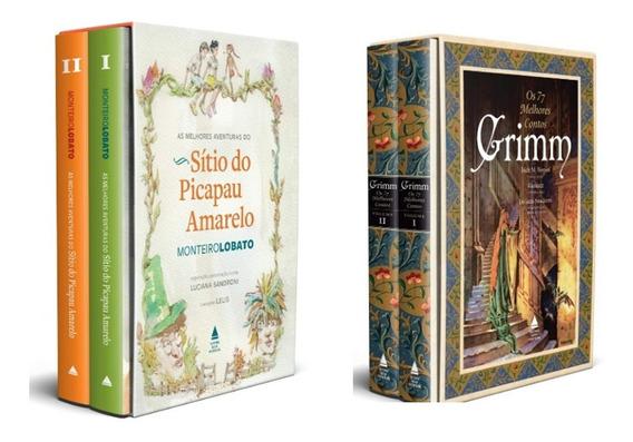 Box As Aventuras Do Sítio Do Picapau Amarelo + Irmãos Grimm