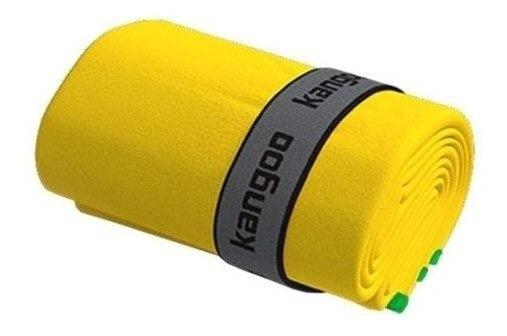 Toalla De Microfibra Kangoo Talla M Color Amarillo Con Verde