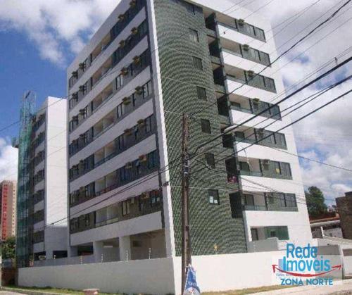 Apartamento Com 3 Dormitórios À Venda, 58 M² Por R$ 295.000,00 - Tamarineira - Recife/pe - Ap11024