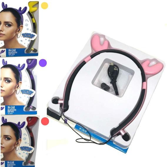 Fone De Ouvido Bluetooth Baby Rena C/ Adsorção Magnética