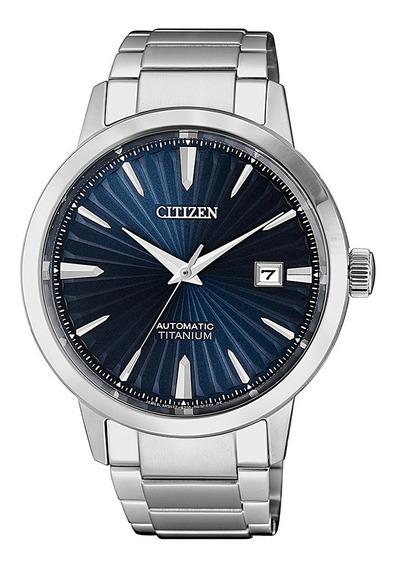 Relógio Citizen Automático Titânio Safira Social Azul
