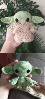 Baby Yoda The Mandalorian Star Wars Muñeco Tejido Crochet