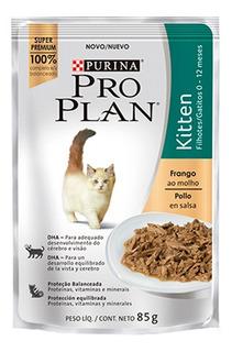 Pouch Pro Plan Wet Cat Kitten X 85 Grs