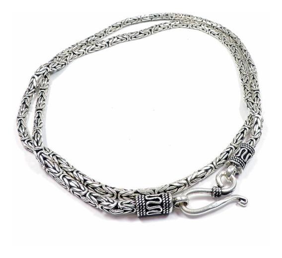 Cordão Corrente Prata 925 Peruana 60cm 37,5g Berkat Sku 9535