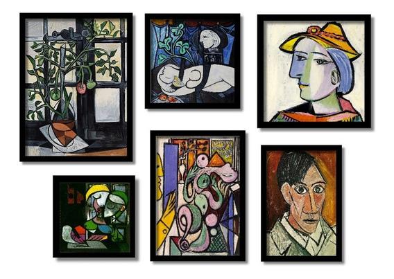 Kit 6 Quadros Mais Famosos De Pablo Picasso