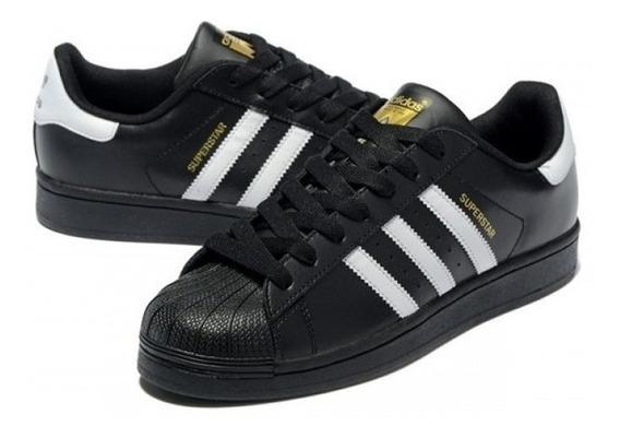 Tênis adidas Superstar Preto Classico Original. Em Oferta