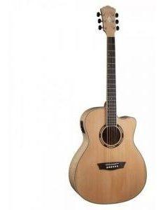 Guitarra Electroacustica Washburn Ad5ce Natural Apprentice