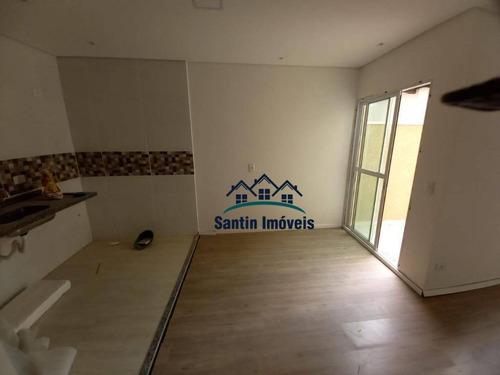 Apartamento Sem Condomínio Com 2 Quartos(01 Suíte ) Vaga Coberta   À Venda, 48 M²  - Vila Cecília Maria - Santo André/sp - Ap1906