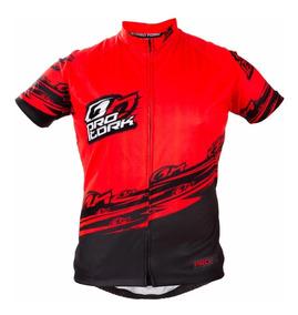 Camisa Ciclismo Bike Pro Tork Line 1 Vermelho/preto