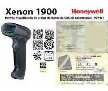 Alquiler Lector Código Barras Honeywell 1900 Cédula Colombia