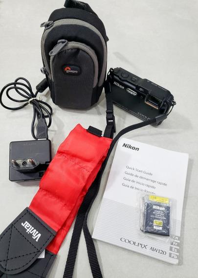 Câmera Digital Aquática Nikon Coolpix Aw120