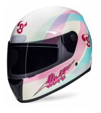 Capacete De Moto Bolt Bless Branco/rosa