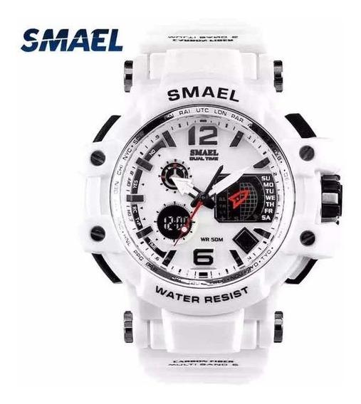 Relógio Masculino Branco Smael Militar