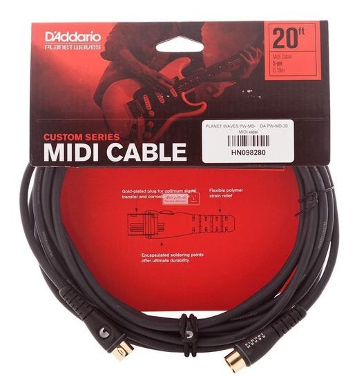 Cable Midi 6 Metros Planet Wave Pw-md-20 Envio Inmediato +