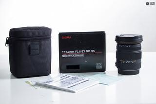 Objetivo Sigma 17-50 F2.8 Ex Dc Como Nuevo Para Canon
