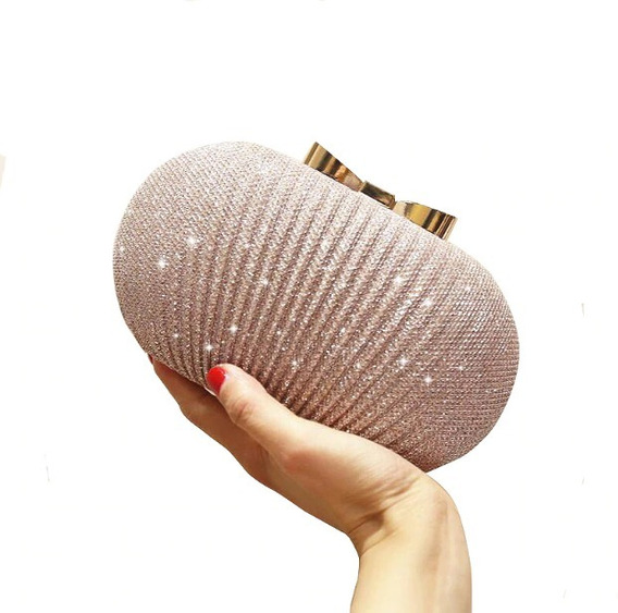 Bolsa De Festa Luxo Clutch Dourada Com Brilho Carteira Mão
